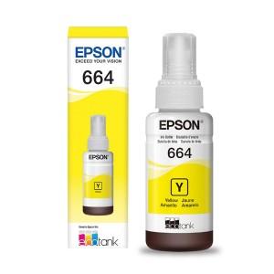 TINTA EPSON T664420AL T664420 T664 AMARELO | L200 L375 L220 L110 L355 L555 L455 L365 | ORIGINAL 70ML