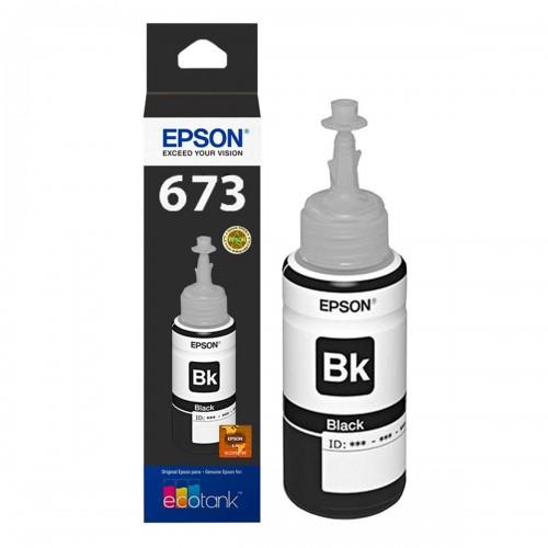 TINTA EPSON T673 T673120 PRETO | L800 L810 L1800 L805 L850 | ORIGINAL 70ML