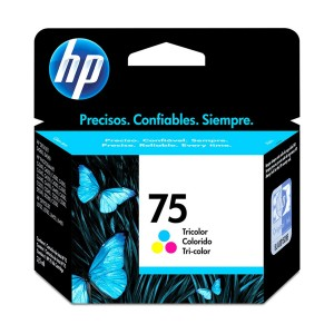CARTUCHO DE TINTA HP 75 CB337WB COLORIDO | PHOTOSMART C4480 C4280 C5280 | ORIGINAL 3,5ML