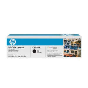 TONER HP CB540A CB540AB 125A PRETO | CP1215 CP1515 CP1518 CM1312 | ORIGINAL