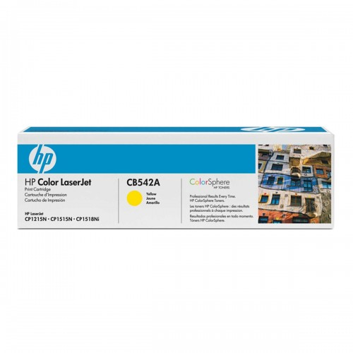 TONER HP CB542A CB542AB 125A AMARELO | CM1312 CP1215 CP1518 CP1515 | ORIGINAL