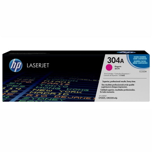 TONER HP 304A MAGENTA LASERJET ORIGINAL (CC533A) PARA HP LASERJET CP2025DN, CM2320N, CM2320NF