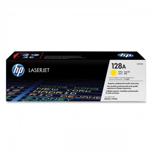 TONER HP CE322A CE322AB 128A | AMARELO | CM1415FN CM1415FNW CP1525NW | ORIGINAL